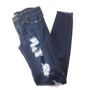 Hollister Super Skinny Destroyed Distressed Jeans